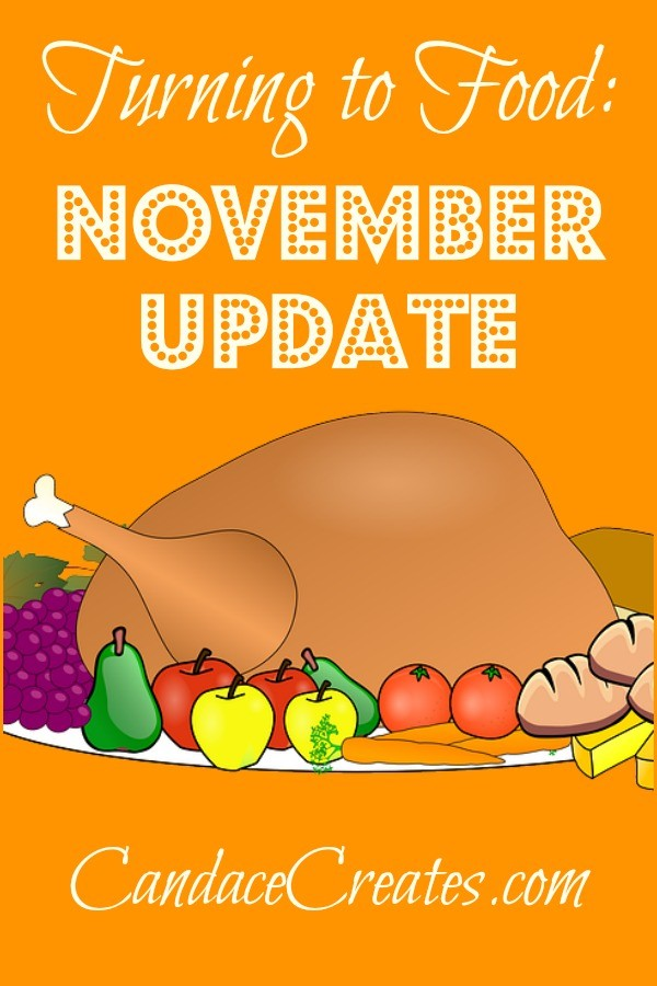 Turning to Food: November Update on my road to food addiction recovery