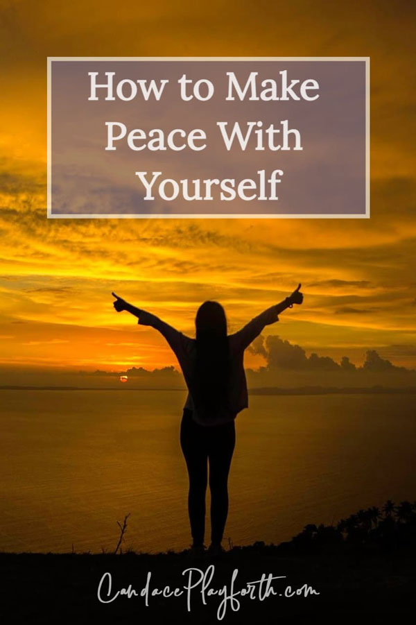make peace with yourself pin
