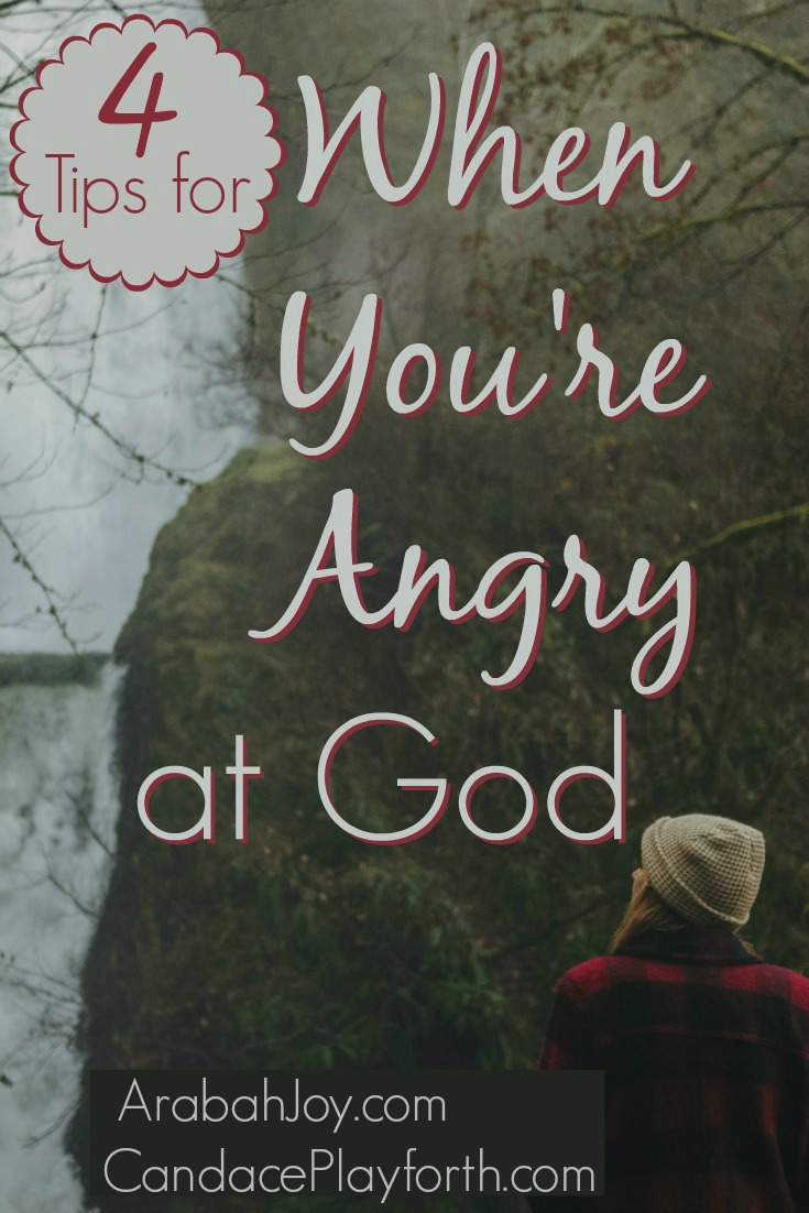 Do you ever find yourself angry at God? Our Christian faith can still remain completely intact in these difficult seasons. Find encouragement here…