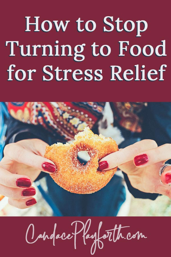 Does stress lead you to unhealthy food choices? I learned the hard way eating is not a remedy for stress and overwhelm! Find out how to stop overeating and learn tips to finally quit choosing food for stress relief. #overeating #stressrelief