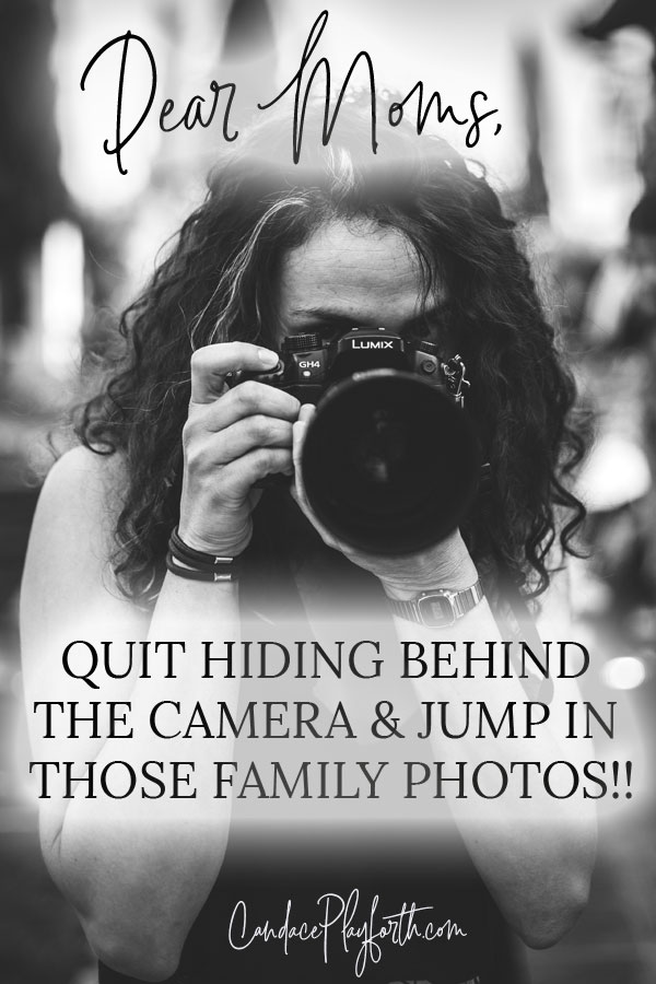 It's time for us moms to quit hiding behind the camera and jump in those family photos! Ours kids will cherish those precious keepsake pictures for years to come. Find encouragement here… #family #photography #momlife #parenting #familyphotos